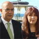 Keith Vaz, chairman of the Select Commitee for Home Afairs with Janis at Brighton Labour Conference