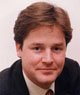Nick Clegg Leader of the Liberal Democrat Party