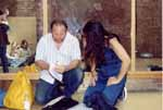 Janis and Stuart going over script